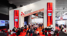 Mitsubishi Electric launched LED upgrade engines and new control room LCD panels at ISE2014 (February 2014)